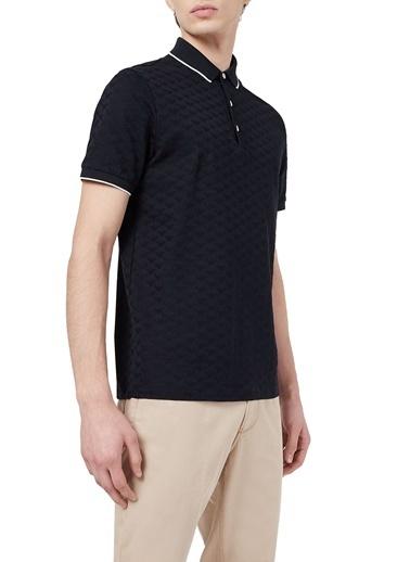 Emporio Armani  % 100 Pamuk Düğmeli Polo T Shirt Erkek Polo 8N1Fp0 1Jhwz 0920 Lacivert